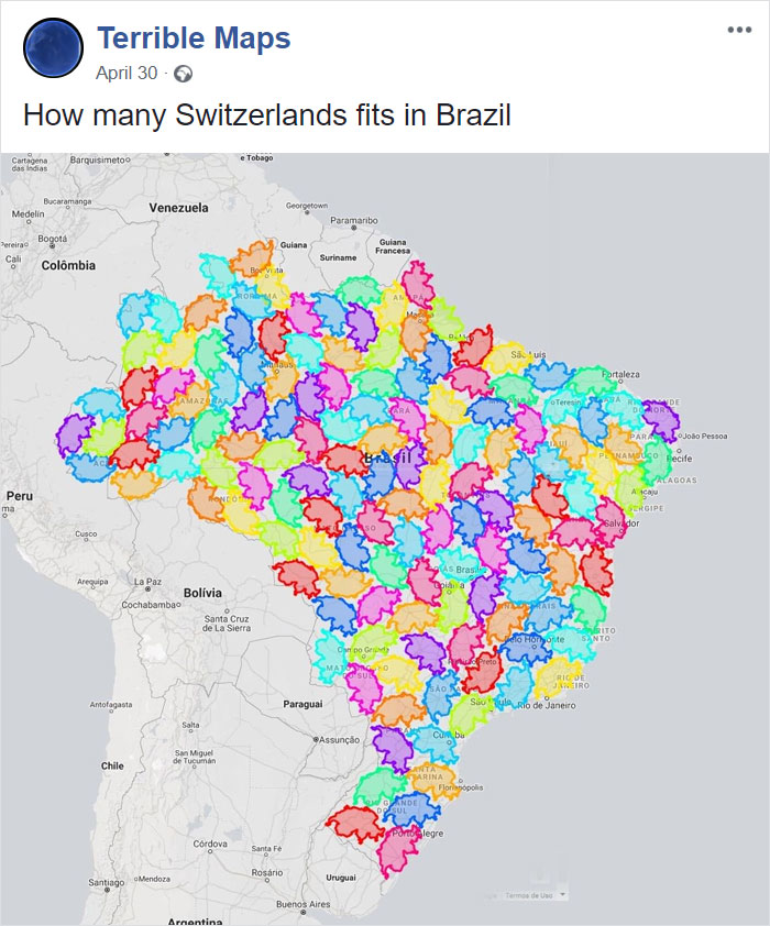 How Many Switzerlands Fits In Brazil