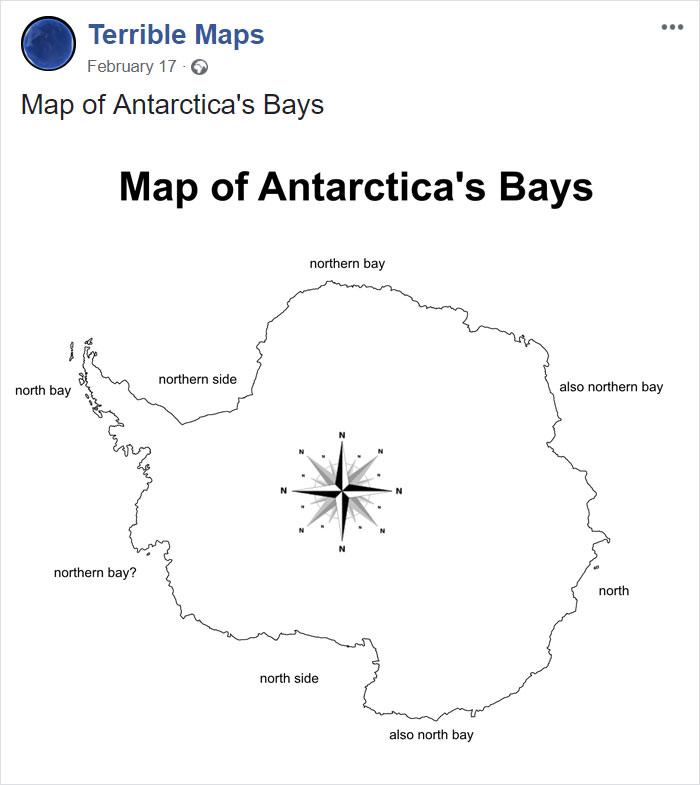 Map Of Antarctica's Bays