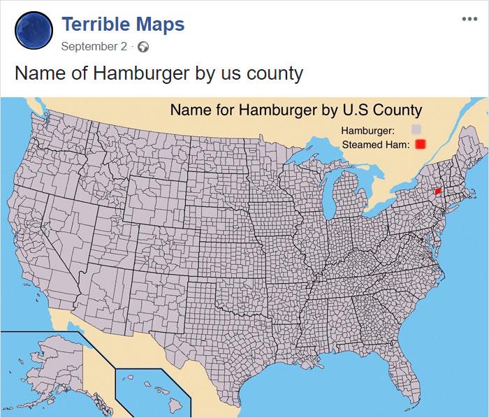 Name Of Hamburger By Us County