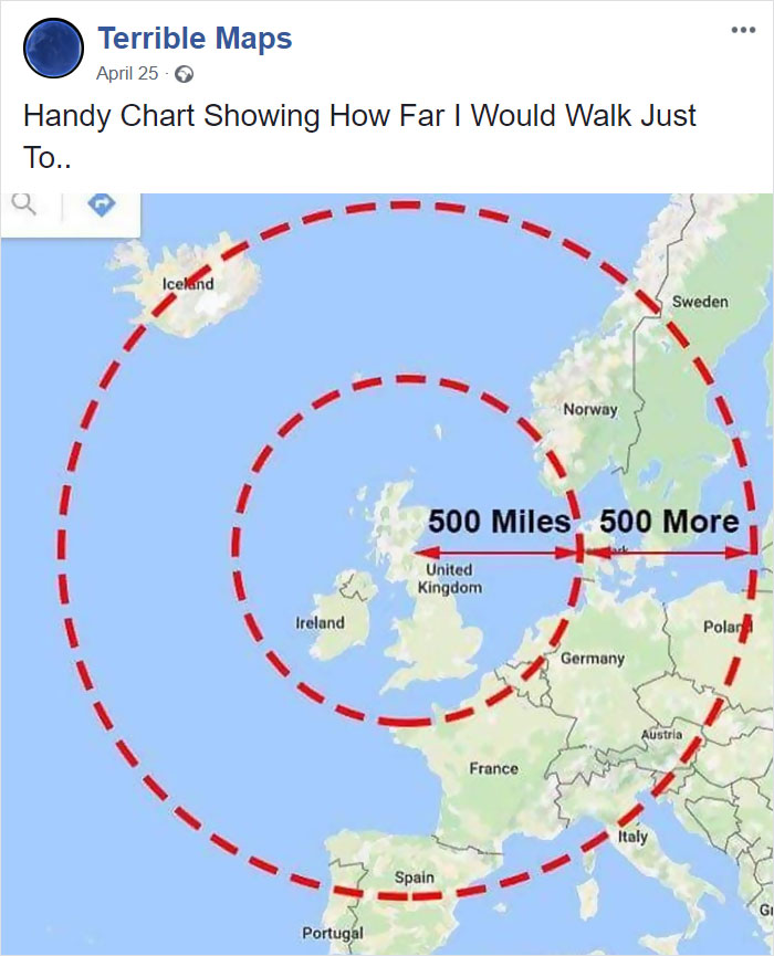 Handy Chart Showing How Far I Would Walk Just To..
