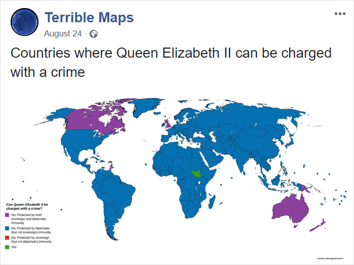 Countries Where Queen Elizabeth II Can Be Charged With A Crime