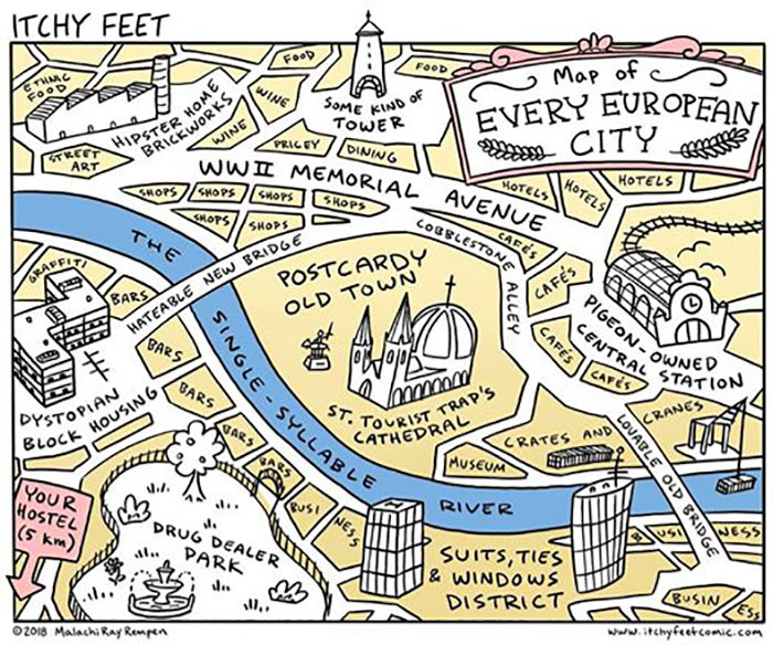 A Map Of Every European City