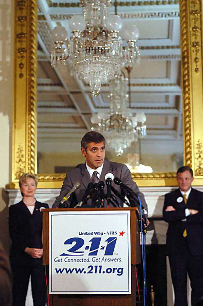 Following The 9/11 Attacks, Clooney Was A Primary Organizer On A Telethon That Featured Dozens Of Hollywood Stars And Raised Us $129 Million For The United Way