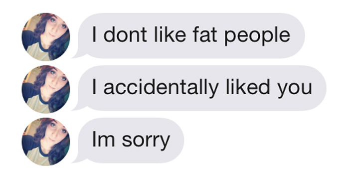 A Girl On Tinder Said This Guy Was Too Fat For Her, So He Shut Her Down
