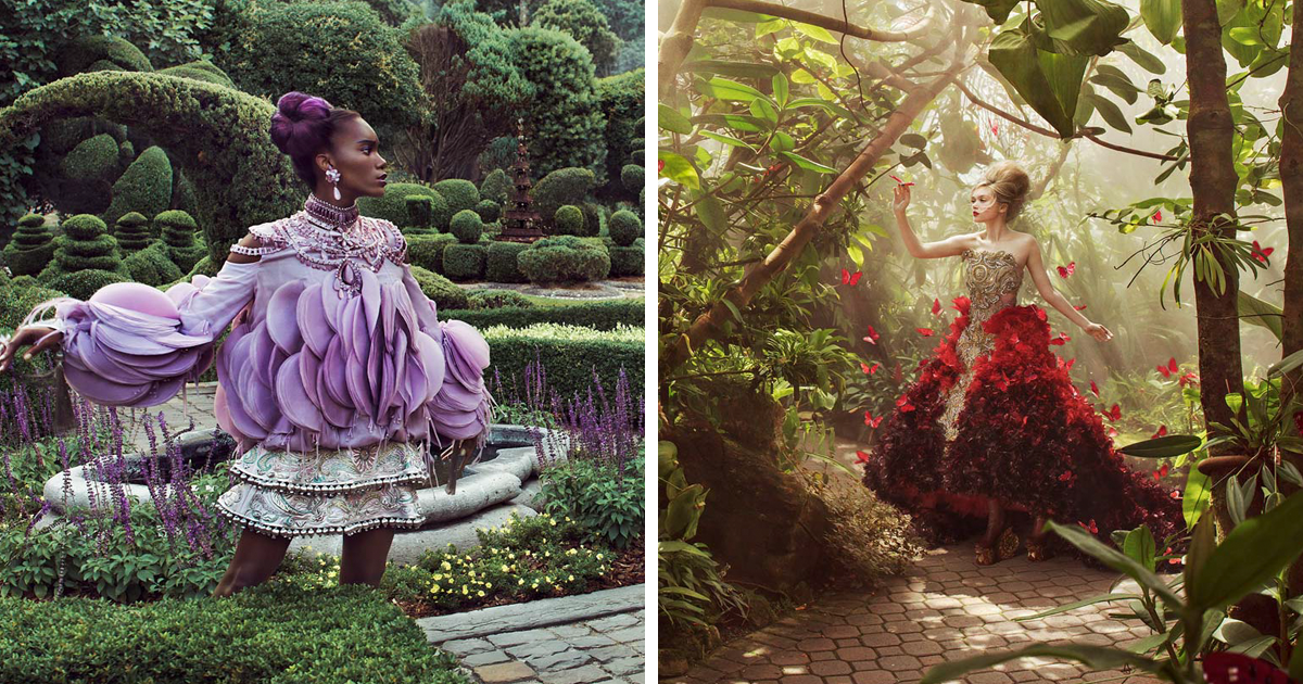 We Created An Unusual Fashion Photoshoot That Features Chinese Couture