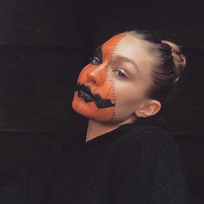 Gigi Hadid As A Jack-O-Lantern