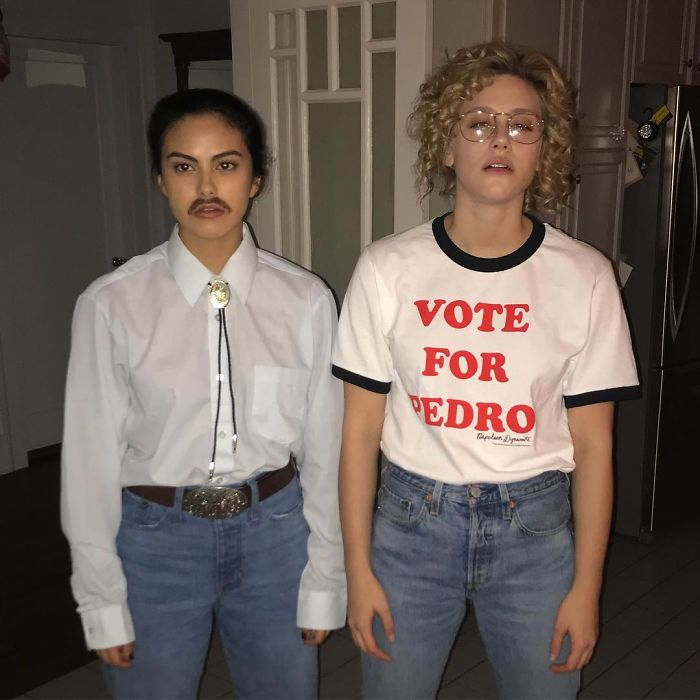 Camila Mendes And Lili Reinhart As Napoleon Dynamite And Pedro