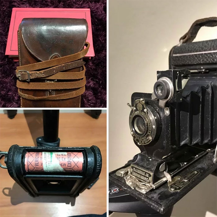 Found A Camera In A Thrift Store That Belonged To A Soldier In WW1. Has Undeveloped Verichrome Film In The Back