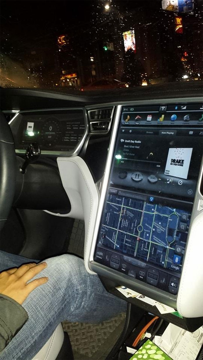 I Used Uber To Hail A Taxi, And This Guy Rolls Up In A Brand New Tesla S!