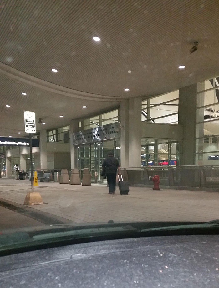 This Is The Last Picture I Took Of My Husband When I Dropped Him Off At The Airport