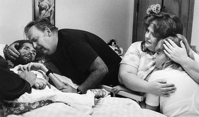 A Father Comforts His Son, David Kirby, On His Deathbed In Ohio, 1989