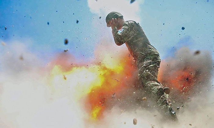 Photographer Captures A Photo Of The Mortar That Kills Her