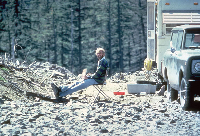 Geologist David A. Johnston, 13 Hours Before His Death At The 1980 Eruption Of Mount St. Helens