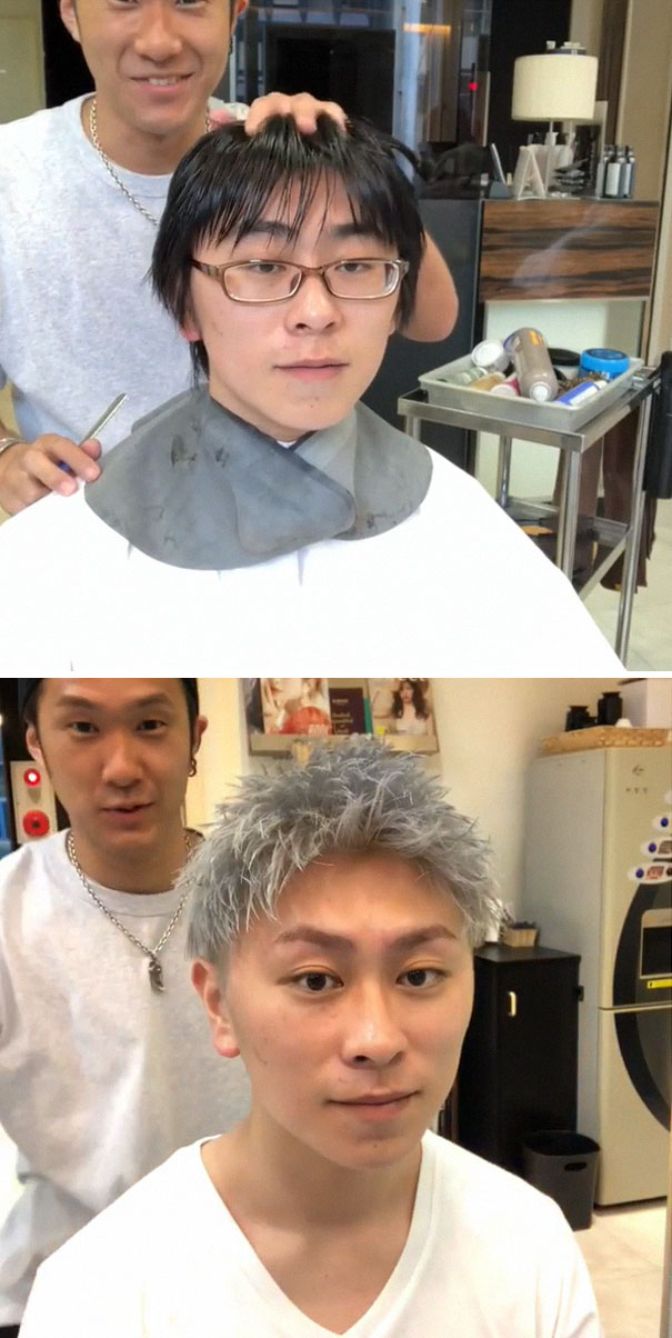 Japanese Barber Shows Just How Much Difference A Good Haircut Can Make |  Bored Panda