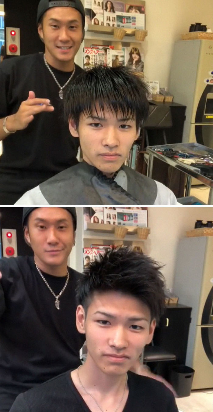 Japanese Barber Shows Just How Much Difference A Good Haircut Can Make