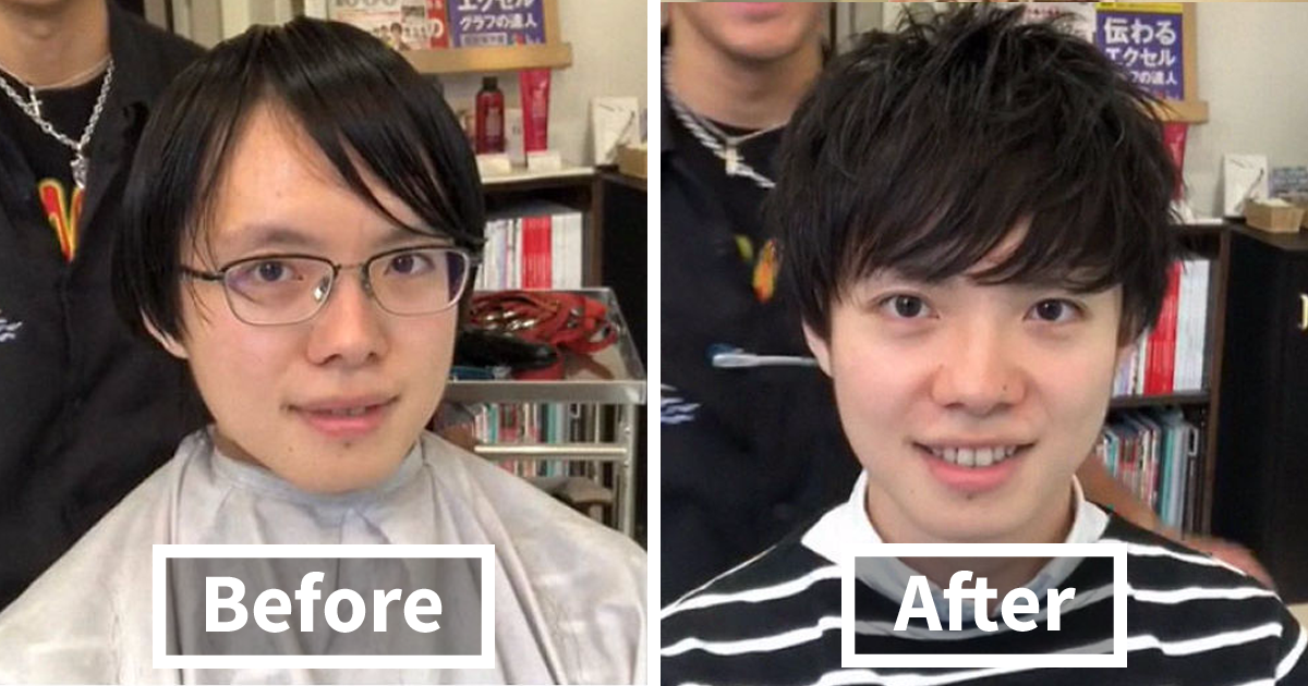 Japanese Barber Shows Just How Much Difference A Good Haircut Can