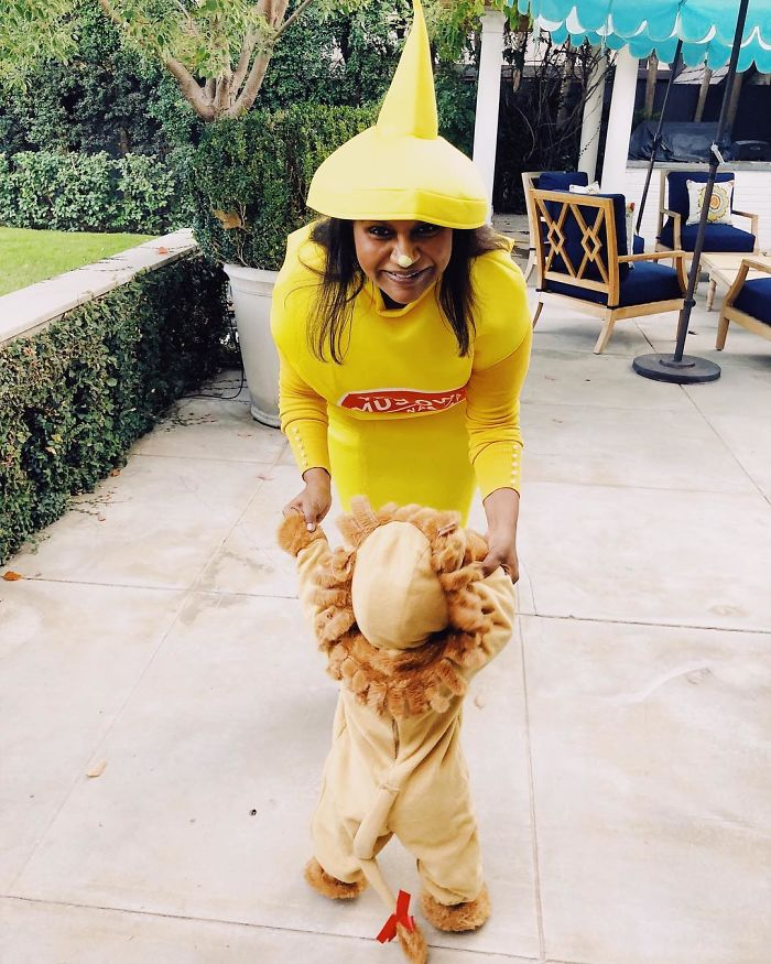 Mindy Kaling As A Bottle Of Mustard And Her Little Lion