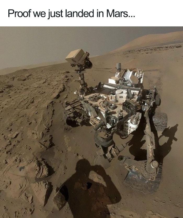 La prueba de que hemos aterrizado en Marte