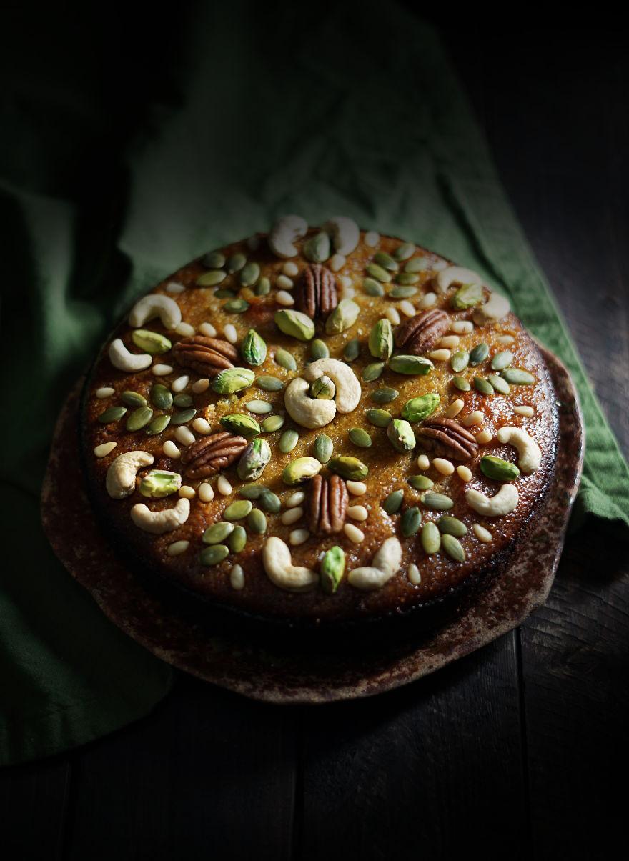 Pine Nut Olive Oil Cake