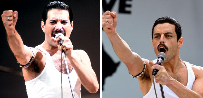Someone Made A Side-By-Side Comparison Of Rami Malek And Freddie Mercury An Live Aid, And It's Like Watching The Same Person