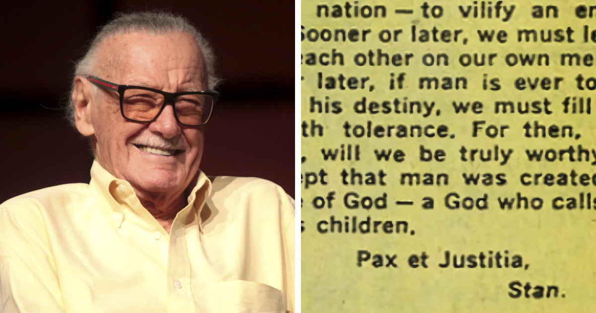 Marvel CoCreator Stan Lee's Text About Racism From 60 Explains Cool Quotes About Racism