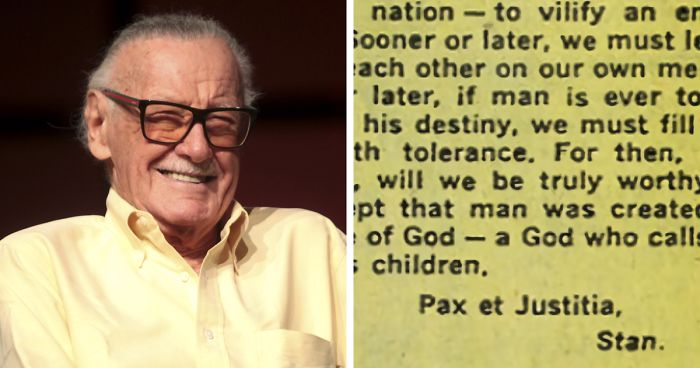 Marvel Co-Creator Stan Lee\'s Text About Racism From 1968 ...