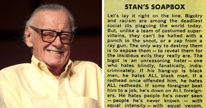 Marvel Co-Creator Stan Lees Text über Rassismus von 1968 zeigt, wie er wirklich war