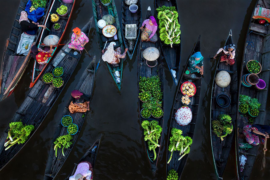 Floating Market, Indonesia (1st Place In Splash Of Colors Category)