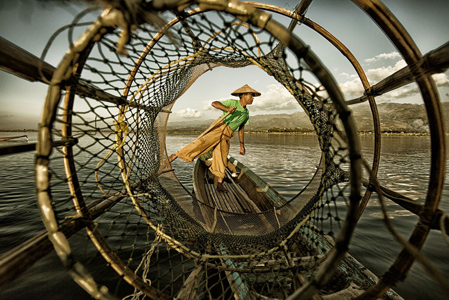 Fisherman At Inle Lake, Myanmar (1st Place In Under 20 Category)