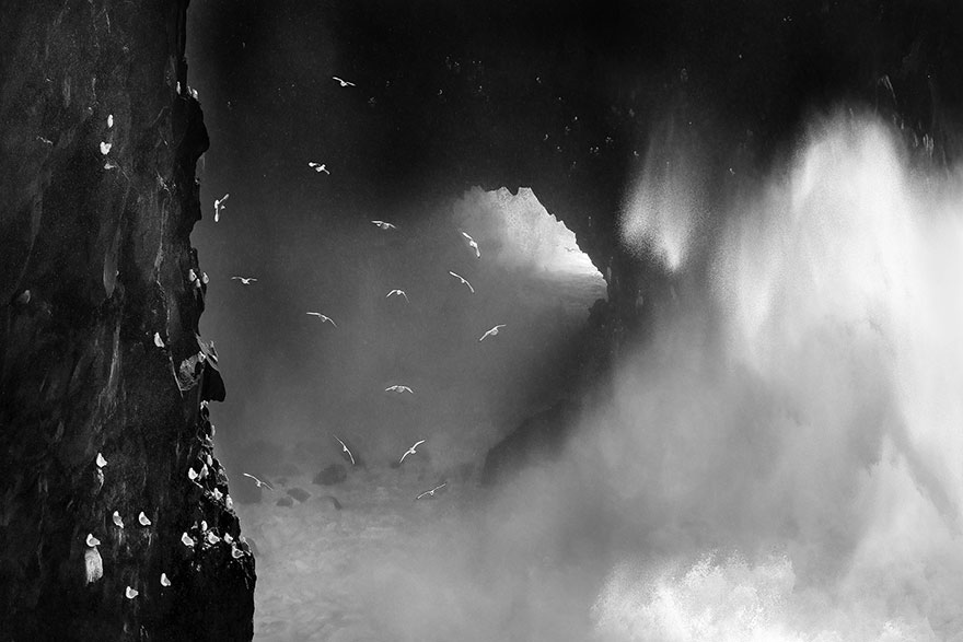 Ocean Fury, Iceland (Honorable Mention In General Monochrome Category)