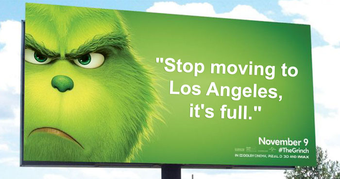 This Billboard Campaign To Promote The New Grinch Movie Is Hilariously Roasting Various Cities Of America