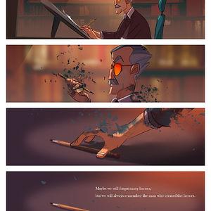 """""""Quizá olvidemos a muchos héroes. Pero siempre recordaremos al hombre que creó a los héroes"""""""