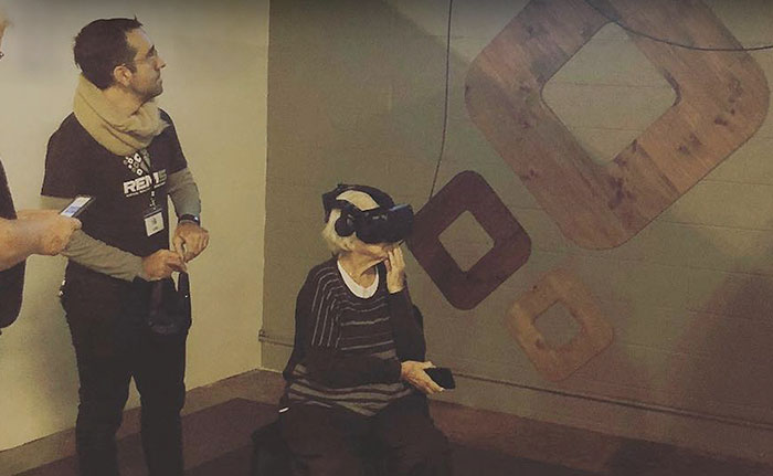 Visually Impaired 93-Year-Old Woman Tries VR For The First Time And The Experience Left Her Crying