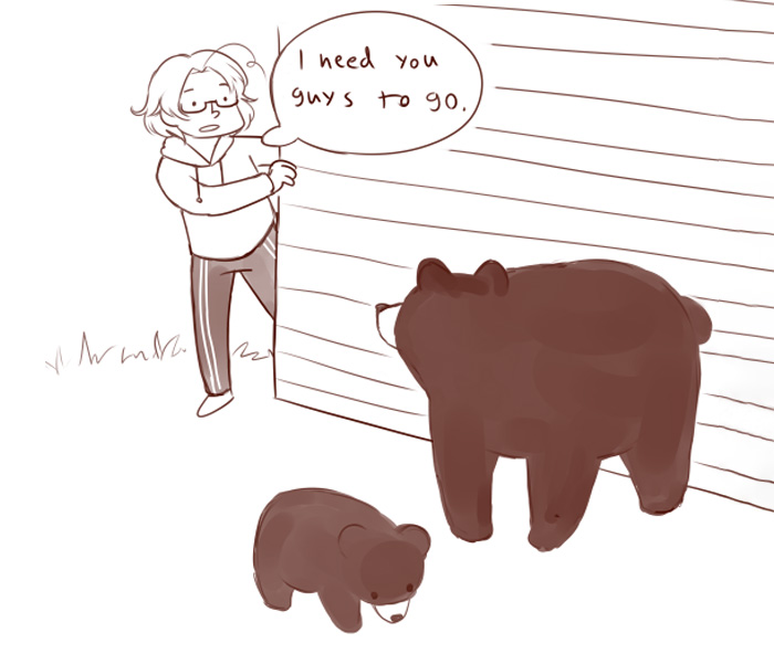 People Laugh At How Differently Canadians And Finnish People Deal With Bears