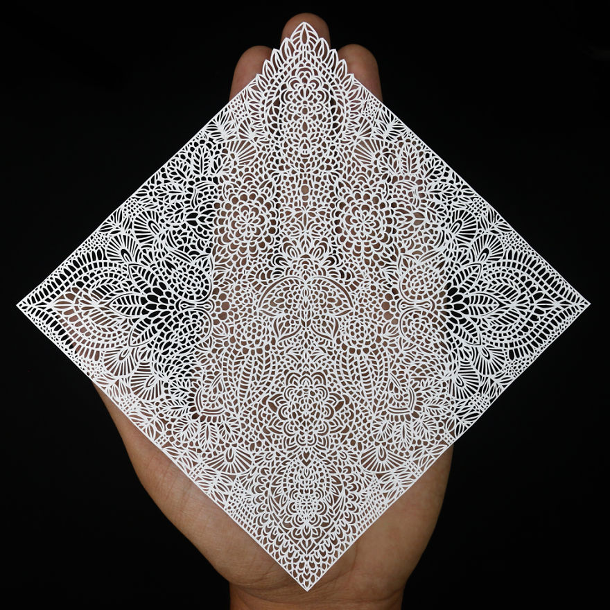 I Create Intricate Paper Art: Each Paisley Cutout Took At Least 7 Days To Complete