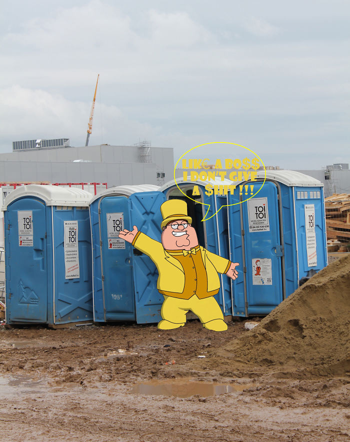 Animation Carachters On Construction Site