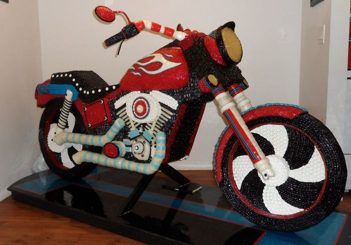 Sweet! Motorcycle Made Out Of Candies