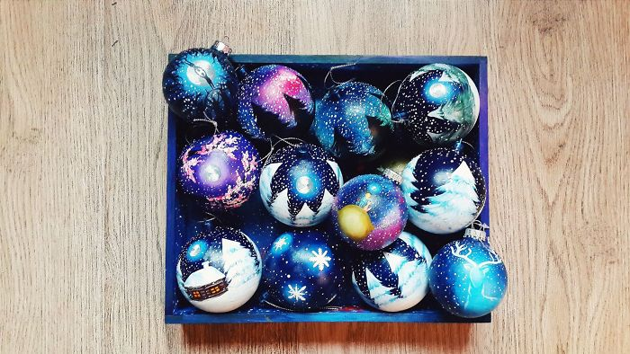 Want Your Christmas To Be Magical? Then Grab One Of These Surrealistic Hand-Painted Ornaments!
