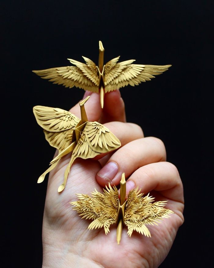 Some Time Ago I Challenged Myself To Create An Origami Crane Every Day For 1000 Days (New Pics)