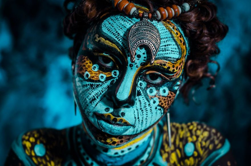 Other Species - Tribal Bodyart Series After Which Artist Dedicated Her Life To Bodypainting