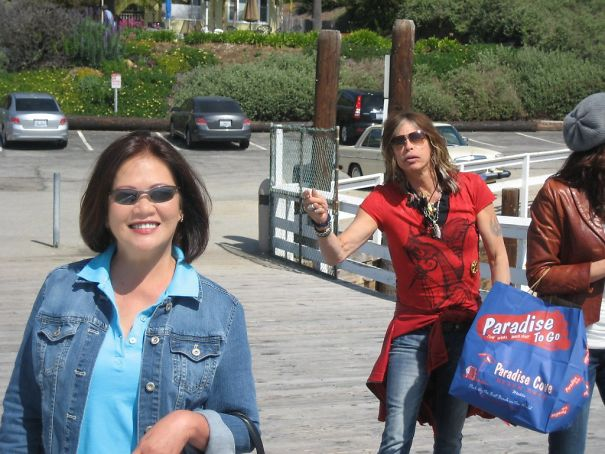My Aunt Got Photobombed By Steven Tyler