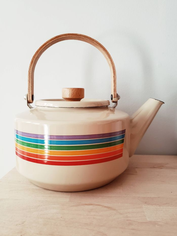 Couldn't Resist This 70s Rainbow Kettle For $7