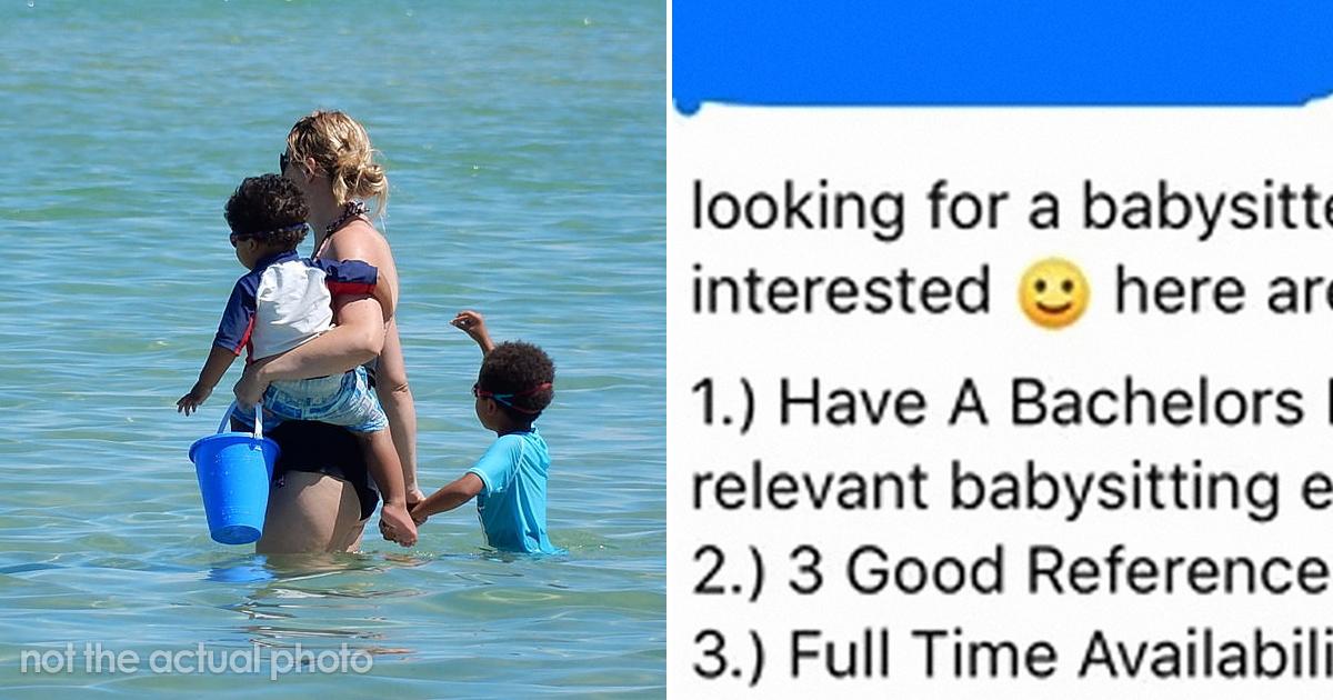 Los requisitos de esta madre para contratar a una niñera son tan irreales que los han publicado en un grupo para reírse de ello
