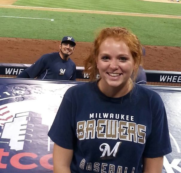 My Friend Got Photobombed By Matt Garza