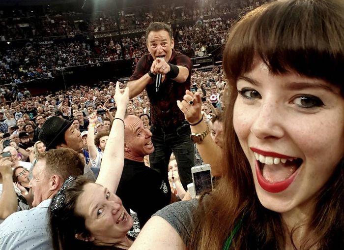 Nur ein Selfie mit Bruce Springsteen