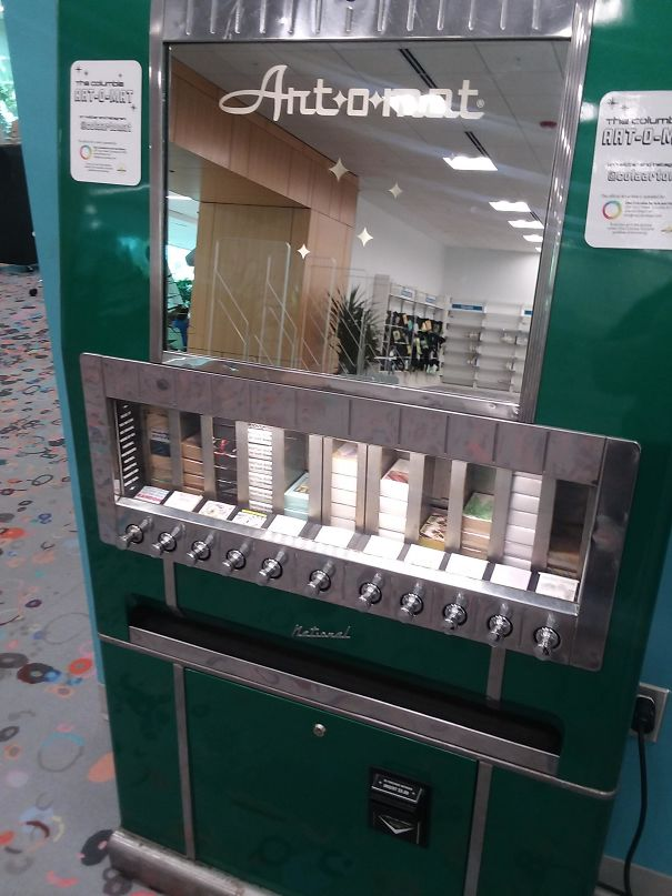 My Local Library Has A Mini Art Vending Machine
