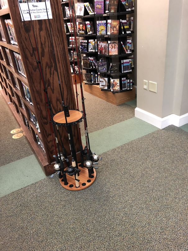 At My Local Library... You Can Rent Fishing Poles... Only In Arkansas