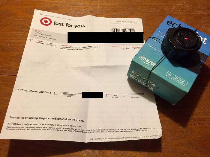Target Sent Me My Order With A Security Alarm On It. And It's Blinking
