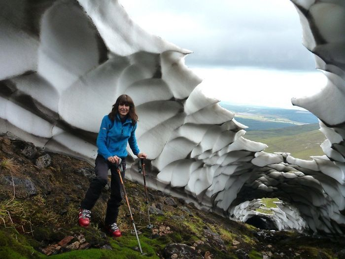 The Remains Of Last Winters Snow. Carn Ban Mor, Scotland