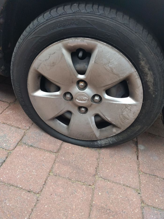 Got A Flat Tire Last Night Over The Christmas Holidays, Nowhere Is Open To Fix It